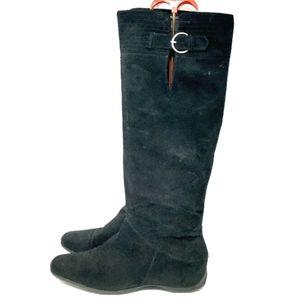 Nine West Boots Women's Samella Black Suede